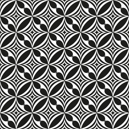 forme: Noir et blanc abstract seamless pattern. illustration de fond moderne. Line, étoile et formes d'onde. Banque d'images