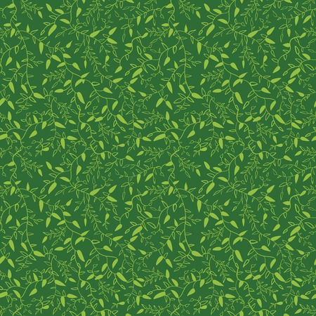 natural color: Floral seamless pattern with leaves.  illustration for your green natural design. Easy to use and change color. Seamless endless bright spring and summer plant pattern.