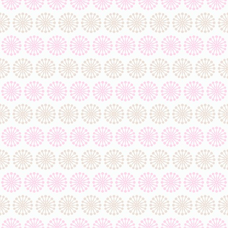 fond: Light summer  seamless pattern. Fond pink, white and brown colors. Endless texture can be used for printing onto fabric and paper or invitation. Floral, curl and dot shapes.