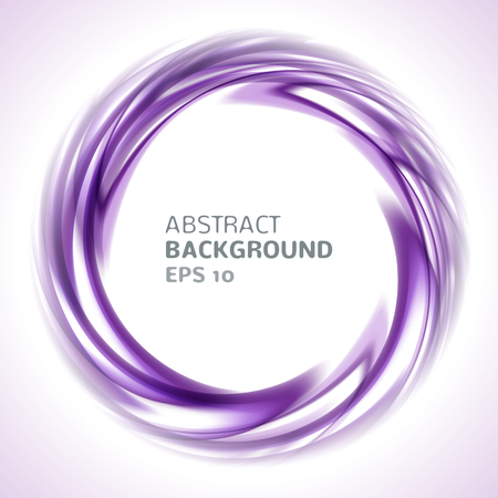 purple abstract background: Abstract purple and pink swirl circle bright background. Vector illustration for you modern design. Round frame or banner with place for text. Illustration