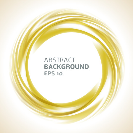 golden border: Abstract orange and yellow swirl circle bright background.