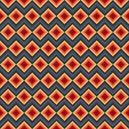zig zag: Modern elegant zig zag and rhombus seamless pattern