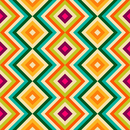zig zag: Ethnic tribal zig zag and rhombus seamless pattern Stock Photo