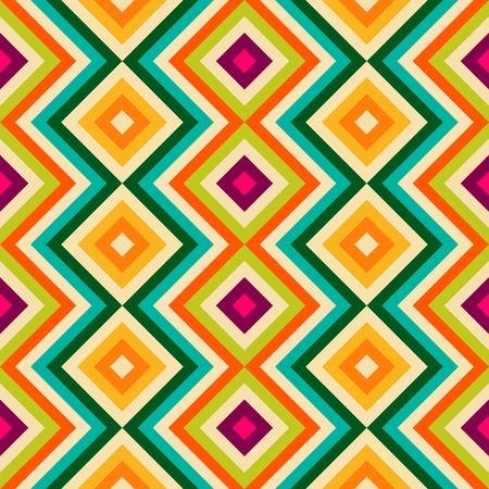 zag: Ethnic tribal zig zag and rhombus seamless pattern Stock Photo