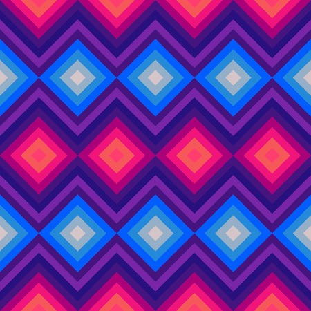 zag: Modern crystal zig zag and rhombus seamless pattern