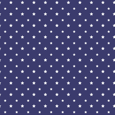 star pattern: Patriotic white and blue geometric seamless pattern Stock Photo