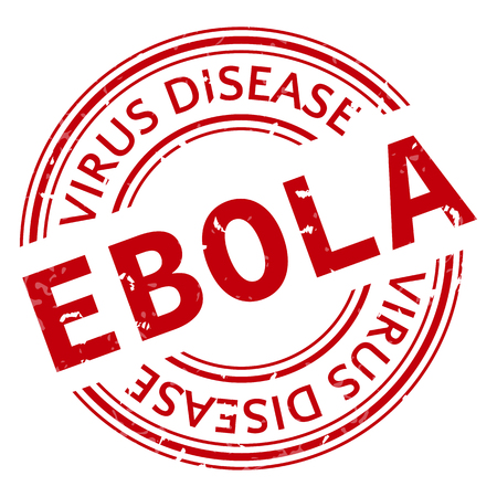 pandemic: Red stamp with Ebola concept text on white background