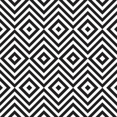 Ethnic tribal zig zag and rhombus seamless pattern. illustration for beauty fashion design. Black white colors. Vintage stripe style. Stock Photo
