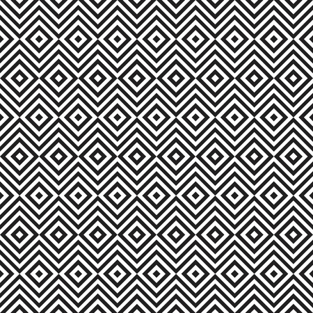 vintage colors: Ethnic tribal zig zag and rhombus seamless pattern. illustration for beauty fashion design. Black white colors. Vintage stripe style. Stock Photo