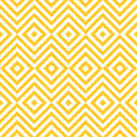 Ethnic tribal zig zag and rhombus seamless pattern. illustration for beauty fashion design. Yellow white colors. Vintage stripe style. 免版税图像