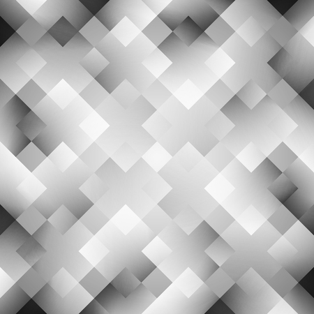 illustration cool: Abstract wallpaper. illustration for modern business design. Cool pattern background. Grey and white colors. Diamond and square shapes with lights and glows. Stock Photo