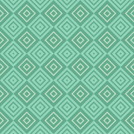 Retro mint and emerald seamless pattern. Endless texture can be used for wallpaper, pattern fill, web page background, surface texture. Shabby vintage geometric ornament.