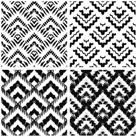 textil: Arte a mano deco pintado sin patrón. Ilustración del vector para el diseño tribal. Motivo étnico. Por invitación, tela, textil, papel pintado, papel de envolver.