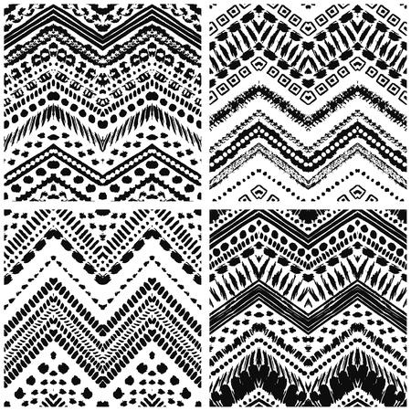 tribales: Arte a mano deco pintado sin patr�n. Ilustraci�n del vector para el dise�o tribal. Motivo �tnico. Por invitaci�n, tela, textil, papel pintado, papel de envolver.
