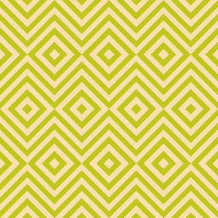 vintage colors: Ethnic tribal zig zag and rhombus seamless pattern. Vector illustration for beauty fashion design. Green yellow colors. Vintage stripe style. Illustration
