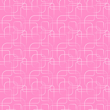 bathroom design: Abstract geometric line and square seamless pattern. Vector illustration for modern design. Pink color. Wallpaper for bathroom, kitchen.