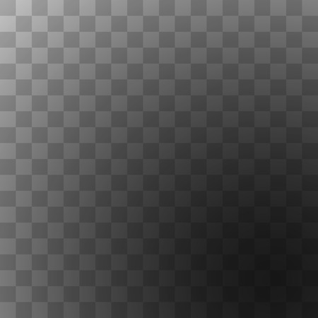 square image: Editable background for transparency image. Vector illustration for modern transparent design. Square seamless pattern in based. White, black and grey colors. Web element.