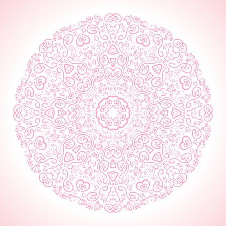lace pattern: Beautiful pink ornamental background.