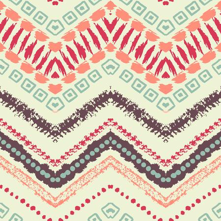 tribales: Dibujado a mano pintada sin patr�n. ilustraci�n para el dise�o tribal. Motivo �tnico. L�nea en zigzag y la raya. Por invitaci�n, tela, textil, papel pintado, papel de envolver.