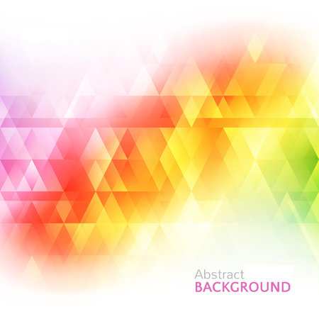 background card: Abstract bright background. illustration for modern design. Spectrum rainbow colors. Triangle border pattern. Invitation or greeting card design. Gradient colorful wallpaper with space for message.