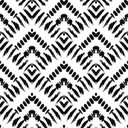 seamless pattern: Hand drawn art deco painted seamless pattern. illustration for tribal design. Ethnic motif. For invitation, web, textile, wallpaper, wrapping paper.
