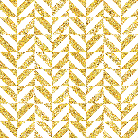Hand drawn golden seamless pattern. Vector illustration for gold design. Ethnic motif. Stripe lines. Yellow and white colors. For invitation, web, textile, wallpaper, wrapping paper.