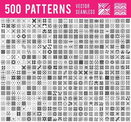 patterns vector: 500 Universal different vector seamless patterns (tiling).