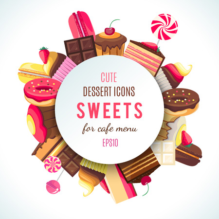 Tło dla firmy słodycze logo.