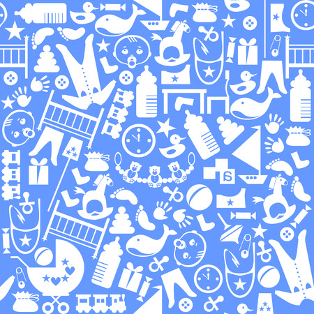 16 Cute Blue Vector Seamless Patterns Endless Texture For Wallpaper