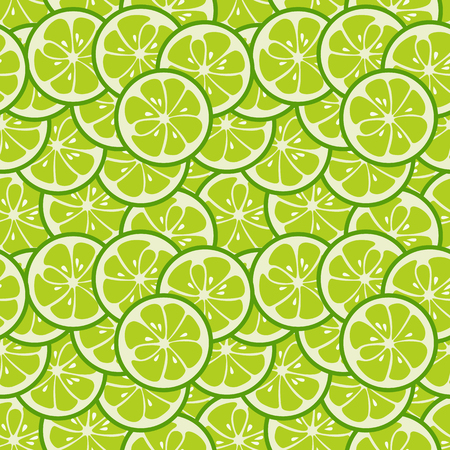 green cute: Cute seamless pattern with green lime slices.