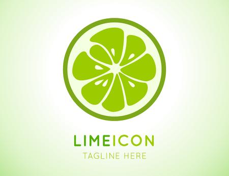 citricos: logotipo verde lima. Vectores