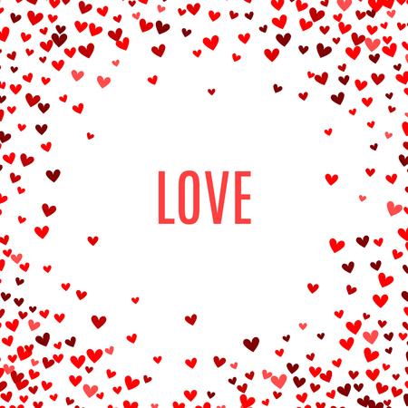 dessin coeur: Romantique fond rouge de coeur. Illustration