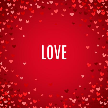 romantic: Romantic red heart background.