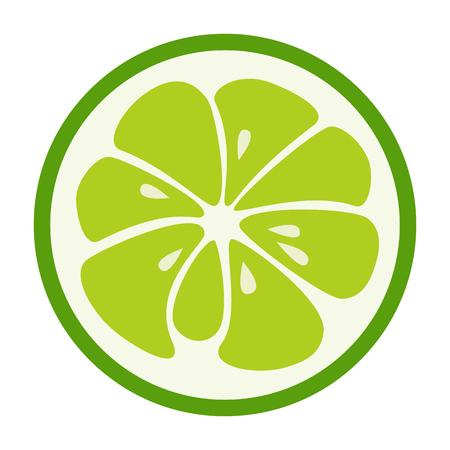 Green lime Erfrischend lecker tropischen Sommerfrucht. Cocktail-Zutaten. Vektor, Design, Illustration