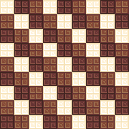white bars: Chocolate bars seamless pattern. Different types of chocolate dark, milk and white. Creative wallpaper design. Realistic chocolate bar pieces. Tasty background. Endless texture. Vector illustration