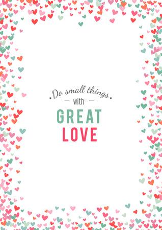 corazones azules: el fondo del corazón, azul, rosa y romántica. Ilustración del vector para el diseño de fiesta. Muchos corazones del vuelo en el fondo blanco. Por invitación de boda, saludos del día de San Valentín, marco precioso.