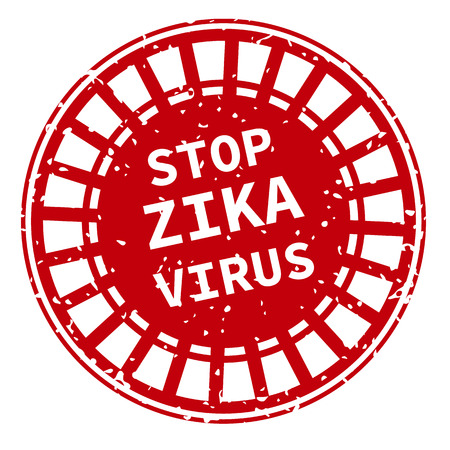 quarantine: Red and white Zika Virus stamp. Vector illustration for warning message. Information sign with ZIKV.  Do not Get Pregnant.