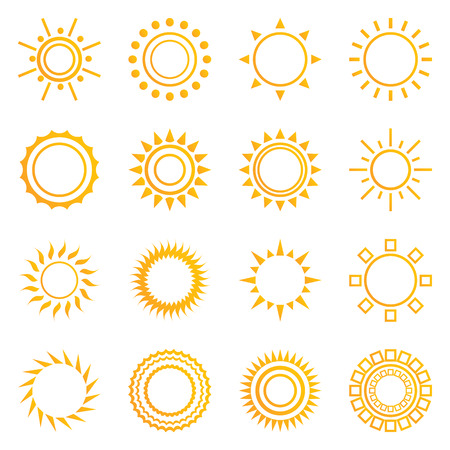 light ray: Set of vintage sunburst. Geometric shapes and light ray collection.