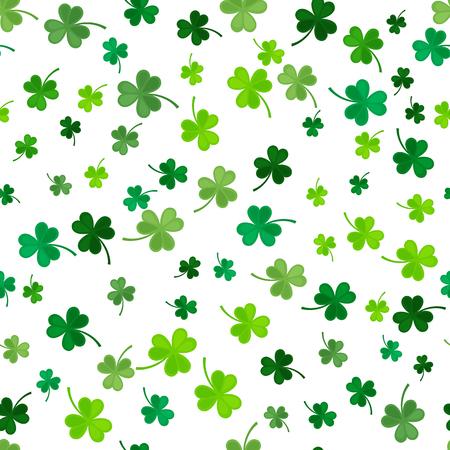 St Patrick 日クローバーのシームレスなパターン。