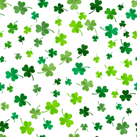 St Patricks Day Clover seamless pattern.