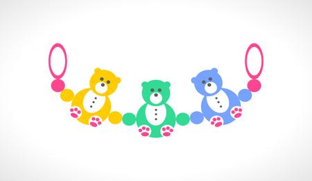 beanbag: Baby beanbag cartoon icon on a white background.