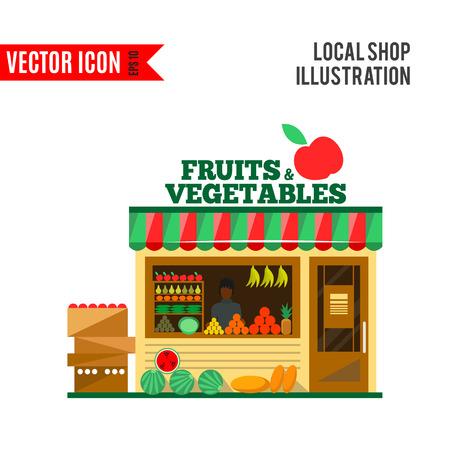 Fruits and vegetables shop.