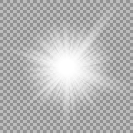 sun burst: White glowing light burst explosion with transparent.