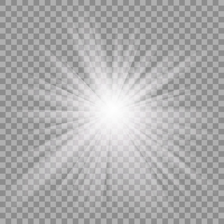 bright: White glowing light burst explosion with transparent.