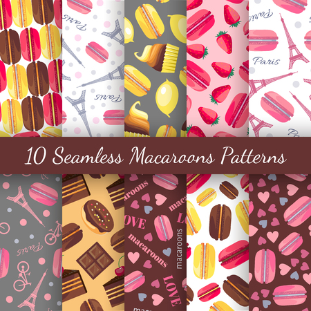 romantic: 10 Seamless romantic patterns
