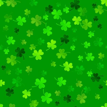 st: St Patricks Day Clover seamless pattern.