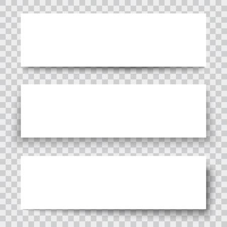 side menu: Set of blank paper sheet with vertical banner Illustration