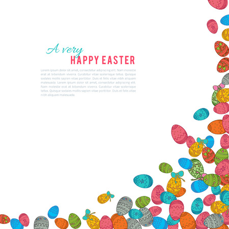 ostern: Colorful easter egg isolated on white background.