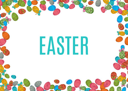 easter background: Colorful easter egg isolated on white background.
