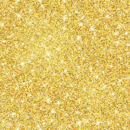 Naadloze gouden glitter textuur geïsoleerd op een gouden achtergrond.
